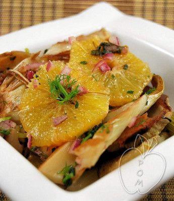 Ensalada templada de hinojo asado y naranja Warm fennel and orange salad Salade tiède de fenouil à l'orange