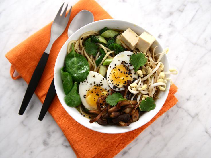 Sesamramen med svamp och tofu | Recept från Köket.se