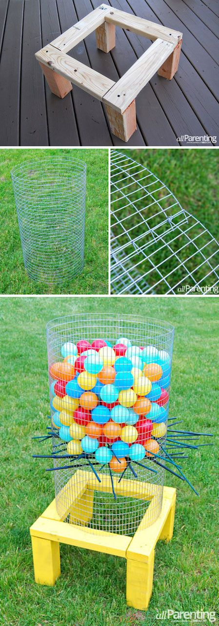 32 of the BEST backyard games to play! DIY huge Kerplunk game!