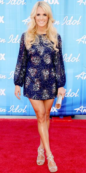 05/24/12: Seven seasons after she took the #AmericanIdol title, #CarrieUnderwood shined brighter than ever in her standout ensemble. #lookoftheday http://www.instyle.com/instyle/celebrities/lotdpopup/0,,20598158_21164733,00.html: Carrie Underwood Legs, Fashion, Style, Dresses, Underwood Photo, Celebrities, Celebs, Sparkle, Hair