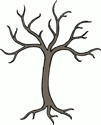 """Barren Tree Clip art. To use for """"tree"""" crafts (button tree, etc)."""