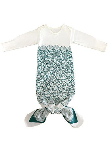NinkyNonk Nowborn Cute Sleeping Bag Unisex Baby Wearable Blanket (Mermaid,S) - $25.99