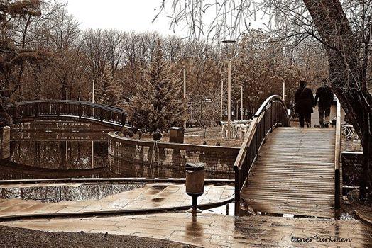 Kurtulus Park, Ankara, Turkey on a rainy day  Photograph by Taner Turkmen