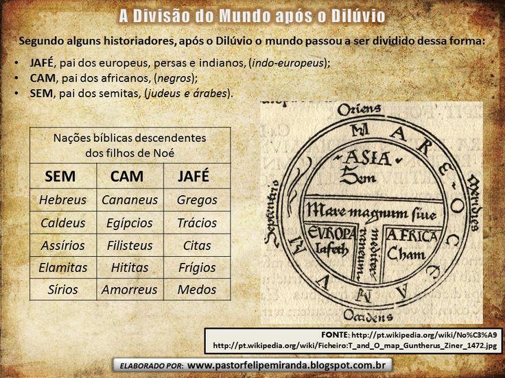 Pastor Felipe Miranda: Árvore Genealógica de Noé (SEM, CAM, JAFÉ)