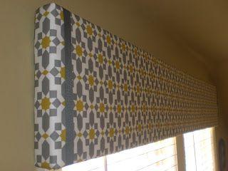 Easy DIY Window Treatment wit foam core board!