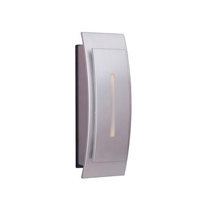Teiber Door Bell Button  http://www.teiber.com/Teiber-Lighting-Products-TB1020-BN-Brushed-Nickel-Push-Button-Door-Bell.HTM