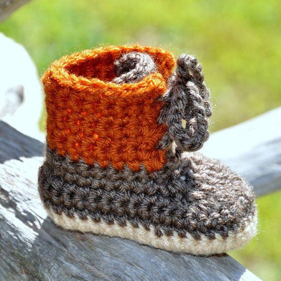 Baby Bootie Winter Maine Style Boot Tie by threekittensknitting, $15.00