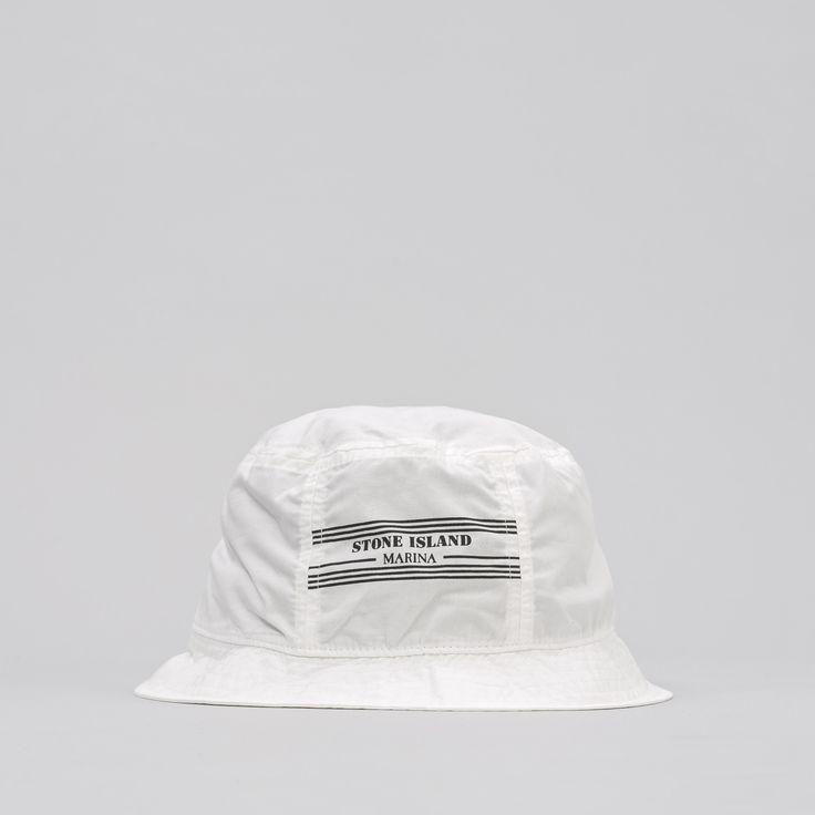 992XC Stone Island Marina Bucket Hat in White