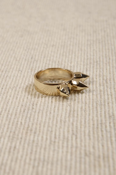 MariaFrancescaPepe X UO Gold Spike Ring #uostyle