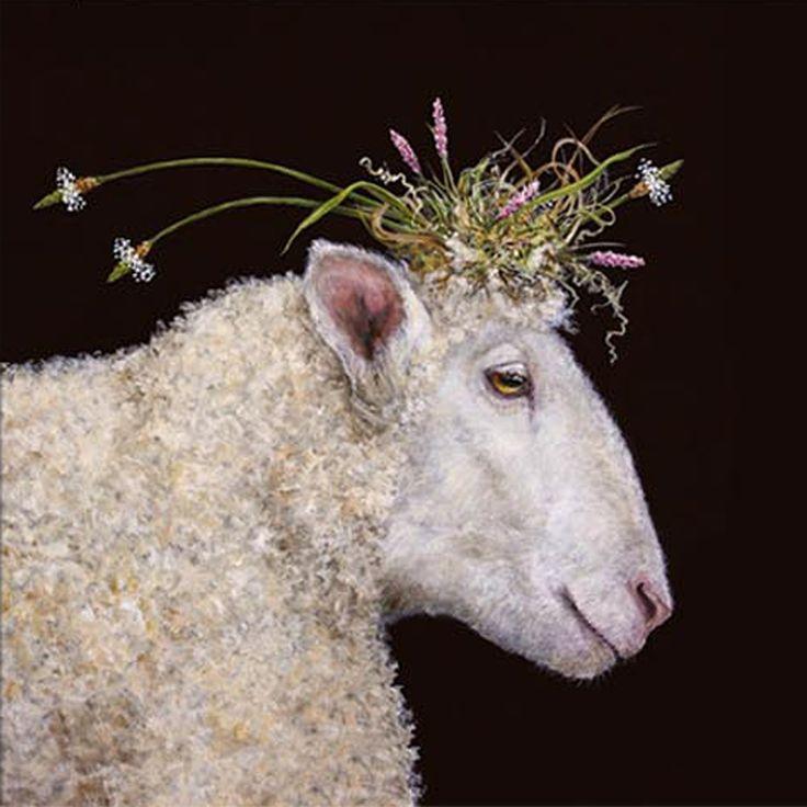 Bianca Napkin 33x33 cm #ppd #paperproductsdesign #designer #vickisawyer #sheep #schaf #napkin # serviette
