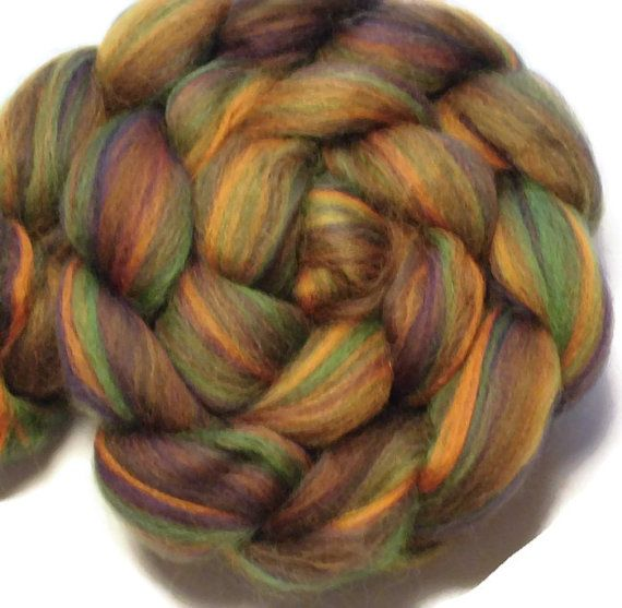 Phat Fiber January 15 Scotland- My Scottish Connetion - Bluefaced Leicester Black Bamboo Roving Top - Spinning, Wet Felting - Custom Dyed