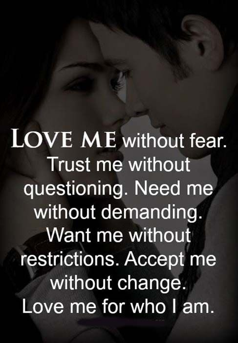 all I want is you to trust me.... and believe me when I tell you I truely love you with all my heart and soul ..