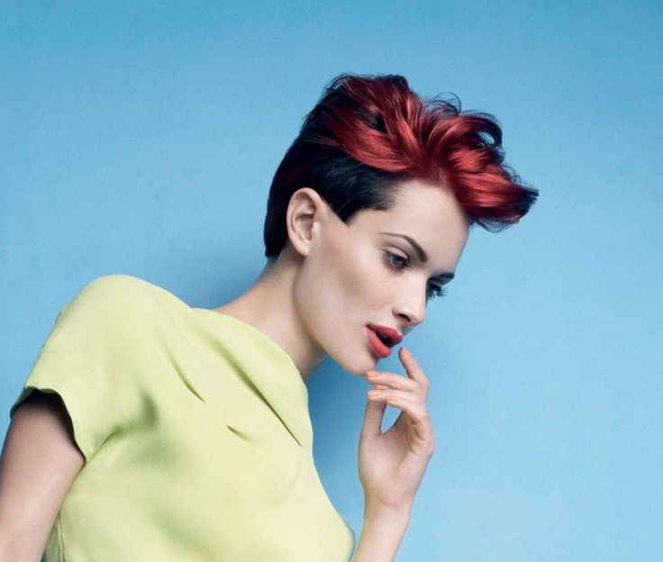 Bicolor hair - black and red :: one1lady.com :: #hair #hairs #hairstyle #hairstyles