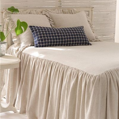 Pine Cone Hill's Wilton Bed Linens are 75% cotton/25% linen bedspread coverlets…