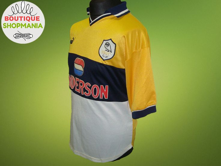 SHEFFIELD WEDNESDAY The Owls Away 1998-1999 PUMA Sanderson Football Shirt Jersey #Puma #SheffieldWednesday
