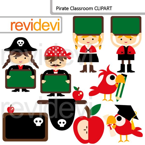 Clipart Decoration Classroom ~ Best pirate printables illustrations and digital