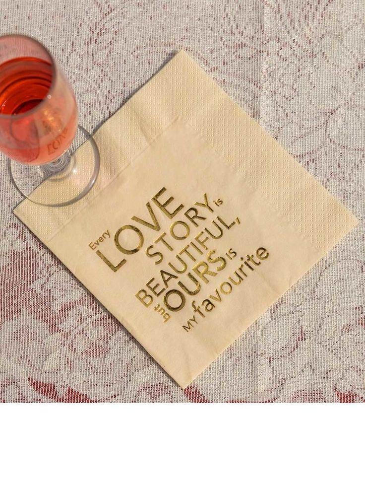 WedMeGood Quote Board - Quote Wedding Napkins | WedMeGood #wedmegood #quote #indianwedding #idea #DIY