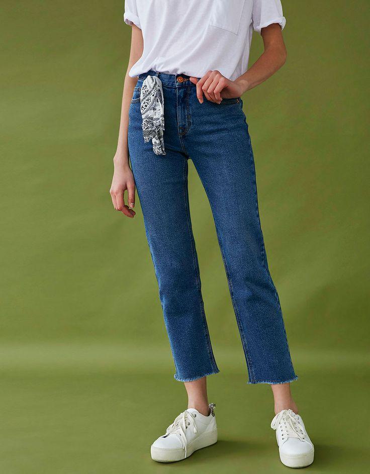 Укороченные расклешенные джинсы - Back to the 90's! - Bershka Russia