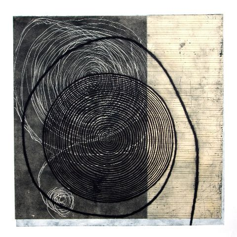 Rhoda Rosenberg , carborundum intaglio, woodcut, etching, 2008
