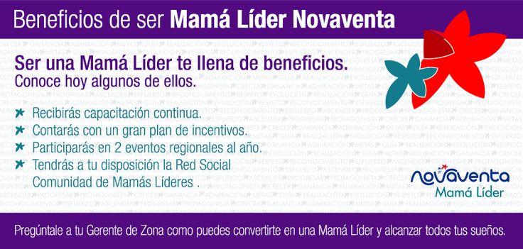 ¡Conoce los beneficios de ser una Mamá Líder en Novaventa!