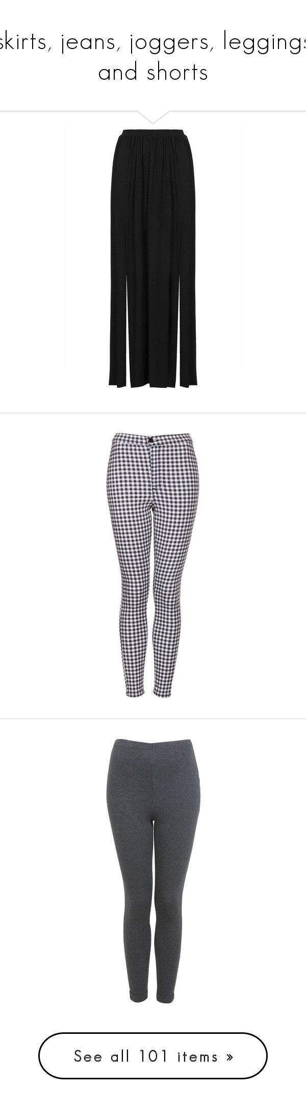 """""""skirts, jeans, joggers, leggings and shorts"""" by sugary-heaven ❤ liked on Polyvore featuring skirts, bottoms, saias, maxi skirts, faldas, black, topshop maxi skirt, jersey skirt, long jersey skirt and elastic waist maxi skirt"""