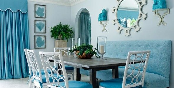 teal dining room furniture ideas