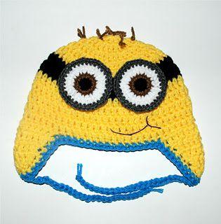 Amy's Crochet Creative Creations: Crochet Minion Hats (All Sizes)