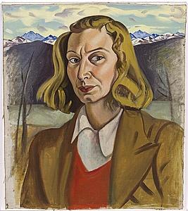 Rita ANGUS / Self-portrait (Wanaka) / 1939 / oil on canvas