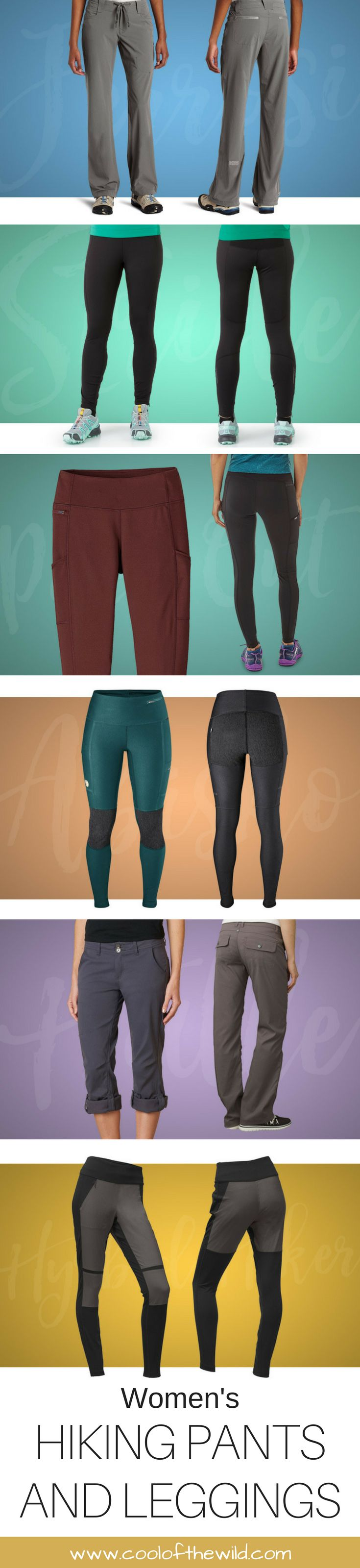 Wherever your adventures may take you, be sure to hike in comfort in a pair fitted hiking leggings or hip hanging pants!