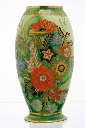 Art Deco Carlton Ware Summer Flowers Lustre Vase. Pattern No 3926, 16cm Tall | eBay