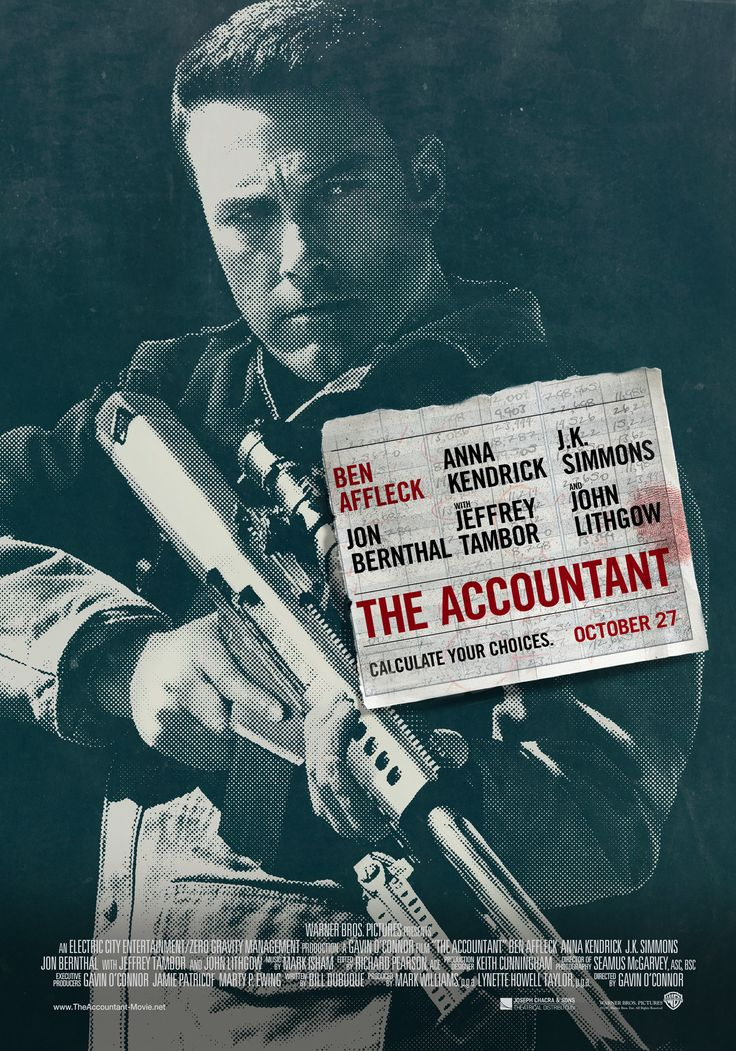 """The Accountant"" movie poster, 2016."