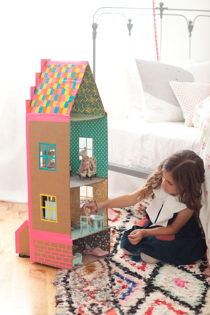 Shoe Box Dollhouse Craft For Kids: RECYCLE AND PLAY