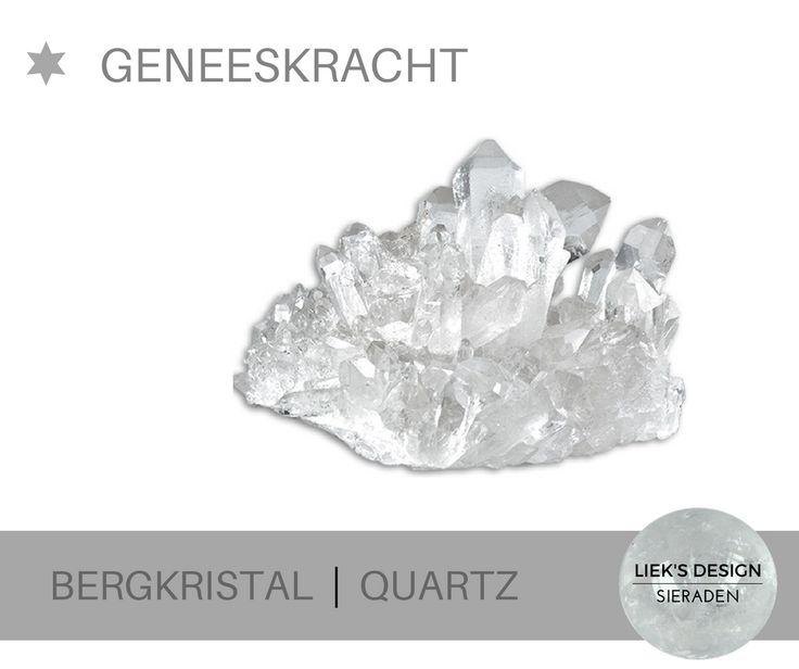 Bergkristal is afgeleid van het Griekse woord krustallos = ijs * Bergkristal is een steen met enorme geneeskracht en bij uitstek geschikt voor healings en energetisch werk. De steen reguleert energie, absorbeert energie, geeft energie en slaat energie op naar gelang wat er nodig is in een bepaalde situatie.