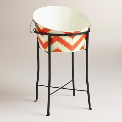 Chevron Slanted Party Tub and Metal Stand