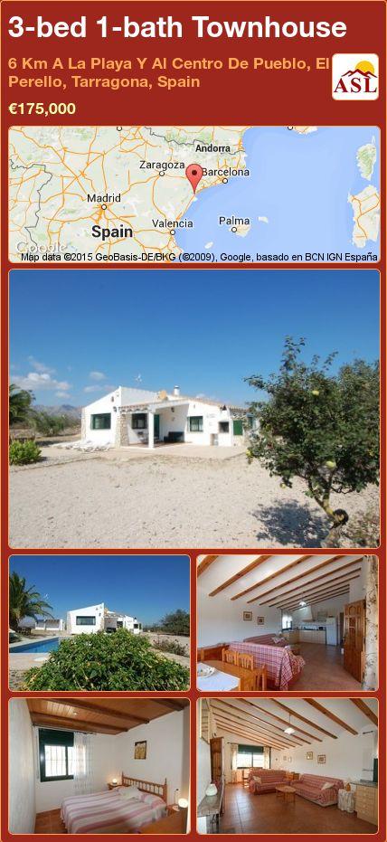 3-bed 1-bath Townhouse in 6 Km A La Playa Y Al Centro De Pueblo, El Perello, Tarragona, Spain ►€175,000 #PropertyForSaleInSpain