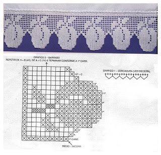 Crochet kitchen shelves