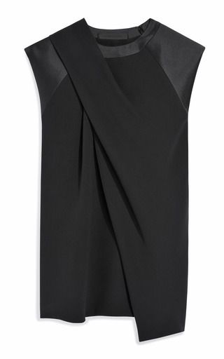 This cap sleeve Alexander Wang top features allover draped detail Hidden zipper at the left shoulder 100% silk Self lined ImportedPlease note: This item is returnable for credit or full refund