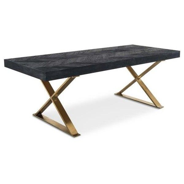 Bordeaux Dining Table With Brass X Legs 1 916 Liked On Polyvore Featuring Home Furniture Tables Dining Table Dining Table Woodworking Shows Woodworking