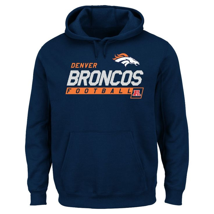 Denver Broncos Men's Big & Tall Team Pride Fleece Pullover Hoodie Sweatshirt - 1XL Tall