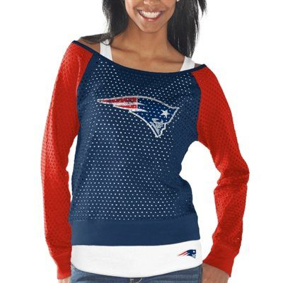 New England Patriots Womens Holy Long Sleeve T-Shirt and Tank Top – Navy Blue/Red