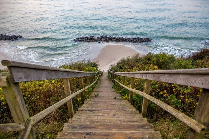 Stairs to the beach, Tisvildeleje by Jorgen Hog - Landscapes Beaches ( denmark, beach, tisvildeleje, path, nature, landscape )