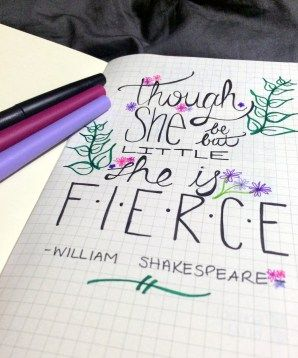 One of my favourite quotes graces the front page of my new bullet journal. It reminds me that I'm tough and can handle anything, despite how big my problems may seem. || thebrunettewithablog.com