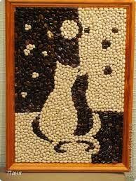 Картина из кофе и фасоли - Google-Suche