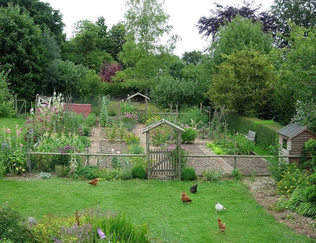 Country vegetable garden with well-designed pair of gates - Serendipity Patch