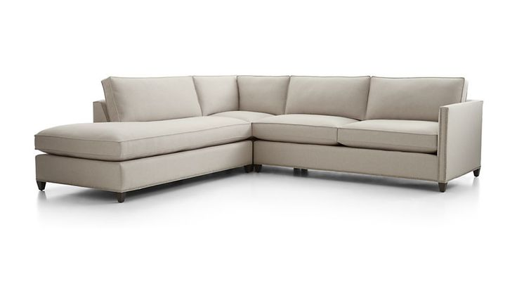 Dryden 3-Piece Sectional with Nailheads