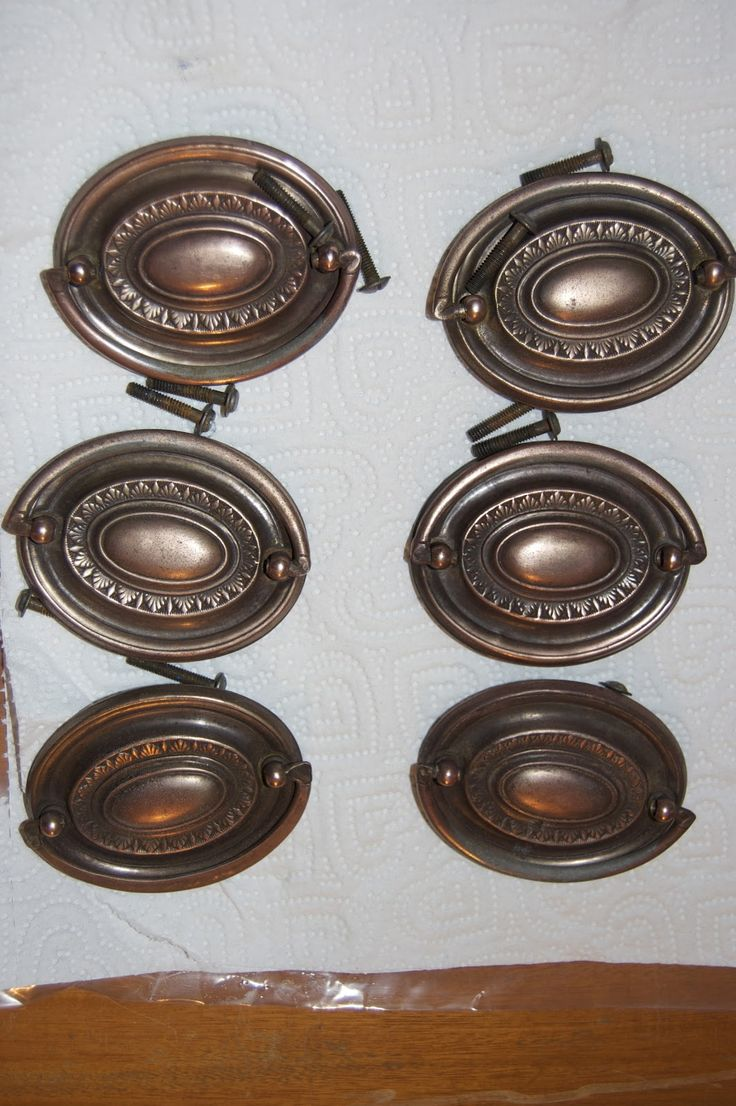 How to clean hardware - Boil them for twenty minutes in solution of water,  1 · Old FurnitureRepurposed ... - 73 Best Furniture Hardware Images On Pinterest Antique Drawer
