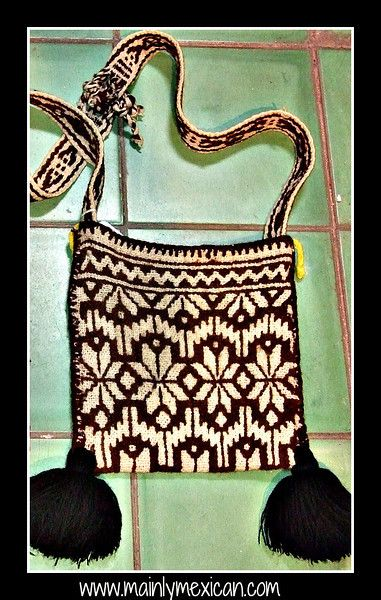 Mainly Mexican - Antiques & Collectibles, Folk Art & Fine Art - MAINLY-MEXICAN's Photos - hand made bags made and carried by Huichol men - these are old and part of a private collection - for more of Mexico visit www.mainlymexican... #Mexico #Mexican #Huichol