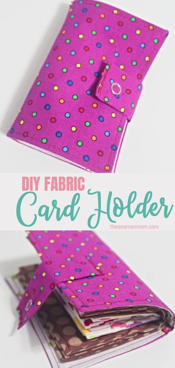 Need A Safe Place To Store Your Credit Cards Id Cards Business Cards And Even A Little Bit Of Easy Sewing Projects Fabric Cards Sewing Projects For Beginners
