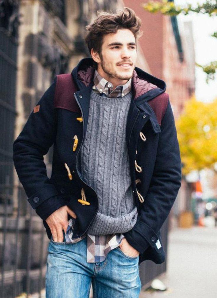 Sobreposição de peças para criar um look estiloso para o inverno.