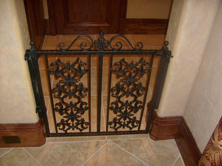 Dog gate. Custom Iron Work. Old World Decor.